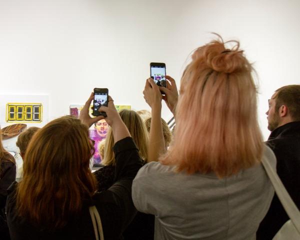 WITP Phones taking photos of art